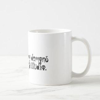 Blue Karma Demon Coffee Cup Basic White Mug