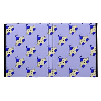 Blue Kawaii Tickle Monster iPad Folio Covers