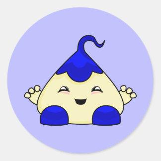 Blue Kawaii Tickle Monster Sticker