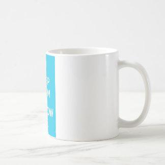 Blue Keep Calm and Follow Me Coffee Mug