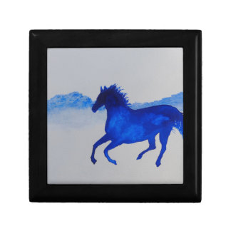 Blue Kentucky Horse running in the mist Gift Box