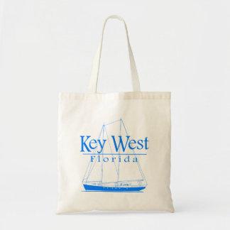 Blue Key West Sailing Budget Tote Bag
