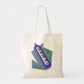 Blue Keytar portable 80s keyboard piano graphic Tote Bag