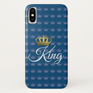 blue king iphone case