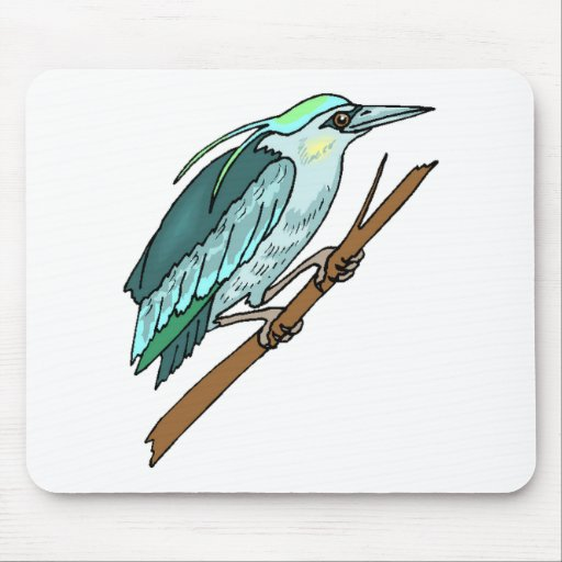 Blue Kingfisher Mouse Pad