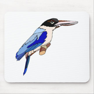 Blue Kingfisher Mousepads
