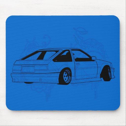 Blue KIS Levin AE86 Mouse Pad