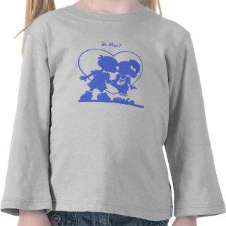 Blue Kissing Kids T-Shirt