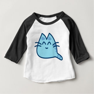 Blue kitten shirt