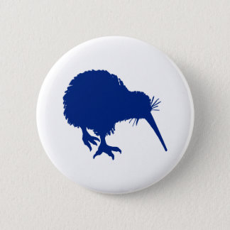 Blue Kiwi 6 Cm Round Badge