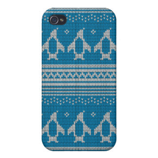 Blue Knitted Background Case For The iPhone 4