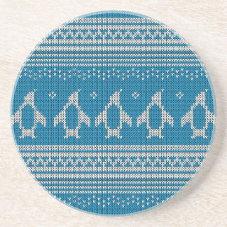 Blue Knitted Background Coasters