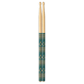 Blue Knitted Background Drumsticks
