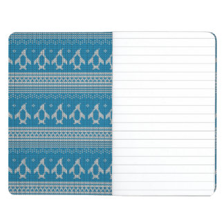 Blue Knitted Background Journal