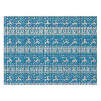 Blue Knitted Background Tablecloth