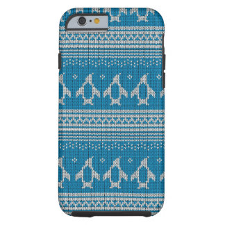 Blue Knitted Background Tough iPhone 6 Case