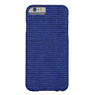 Blue knitted cotton close up iPhone 6 case