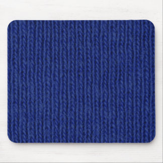 Blue knitted cotton close up mousemat