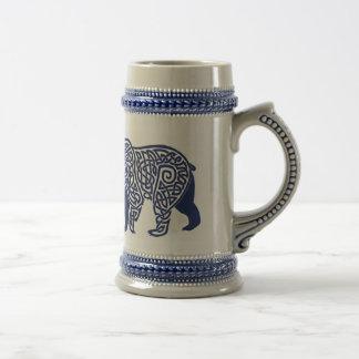 Blue Knotwork Bear Stein