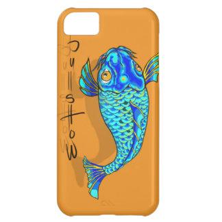 blue koi iPhone 5C case
