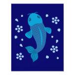 Blue Koi Fish Invite