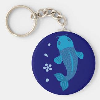 Blue Koi Fish Key Ring