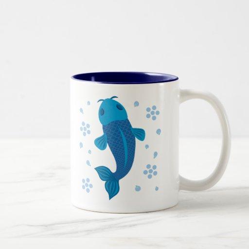 Blue Koi Fish Mug