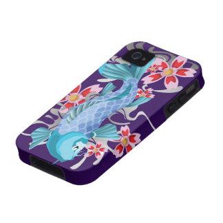 Blue Koi Fish on indigo iPhone 4/4S Covers