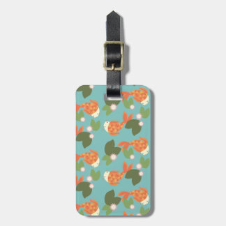 Blue Koi Pond Luggage Tag