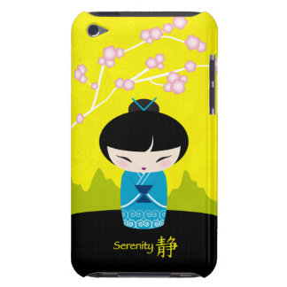 Blue kokeshi - Serenity Barely There iPod Case