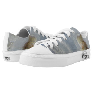 Blue Lace Agate Swirl cool nature stone Low Tops