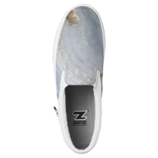 Blue Lace Agate Swirl cool nature stone Slip-On Shoes