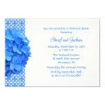 Blue Lace and Hydrangeas Rehearsal Dinner 11 Cm X 16 Cm Invitation Card