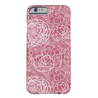 Blue lace flowers pattern background barely there iPhone 6 case