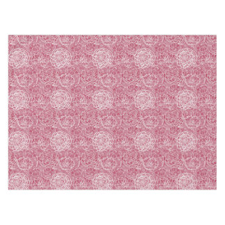 Blue lace flowers pattern background tablecloth