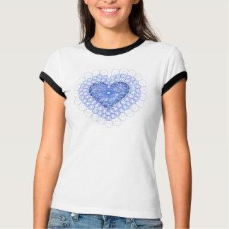 Blue Lace Heart Shirt