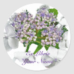 Blue Lace Hydrangea Coordinating Items Round Stickers