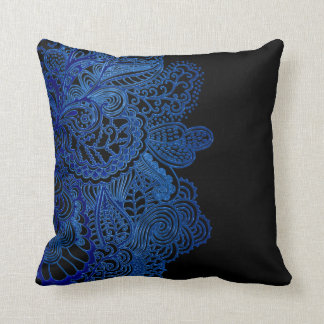 Blue Lace on Black Or Any Color Cushion