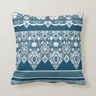 Blue lace pattern . cushion
