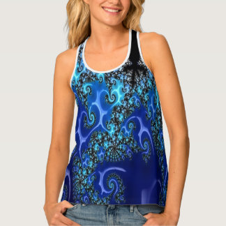 Blue Lace Tank Top