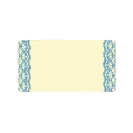 Blue Lace Wedding Label