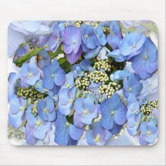 Blue Lacecap Hydrangeas Mouse Mat