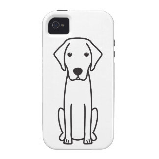 Blue Lacy Dog Cartoon Case-Mate iPhone 4 Cover