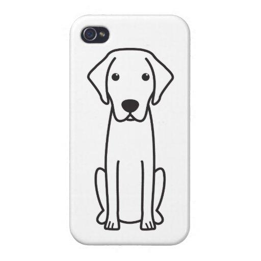 Blue Lacy Dog Cartoon iPhone 4 Case