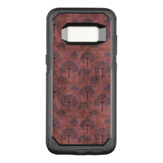 Blue Lacy Trees on Grunge Red OtterBox Commuter Samsung Galaxy S8 Case
