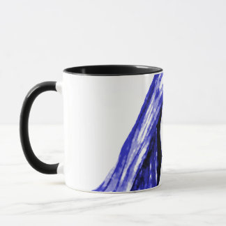 Blue Lady. Blue and White Illustration. Mug