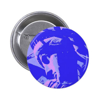 Blue Lady Liberty 6 Cm Round Badge