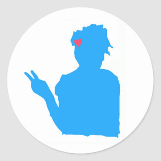 Blue lady sticker
