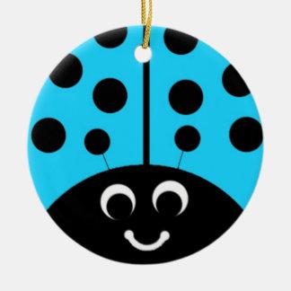 blue  ladybug christmas ornament