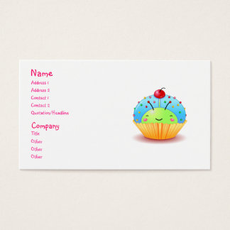 Blue Ladybug Cupcake Business Card